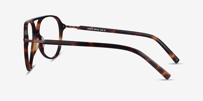 Viento Warm Tortoise Metal Eyeglass Frames from EyeBuyDirect, Side View