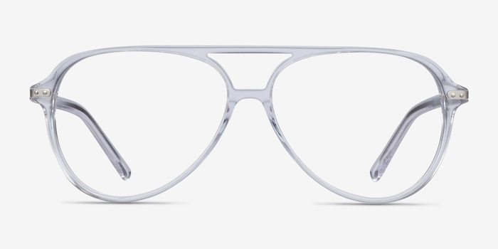 Viento Clear Metal Eyeglass Frames from EyeBuyDirect, Front View