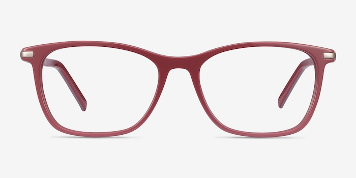 Field Pink Acetate-metal Eyeglass Frames from EyeBuyDirect, Front View