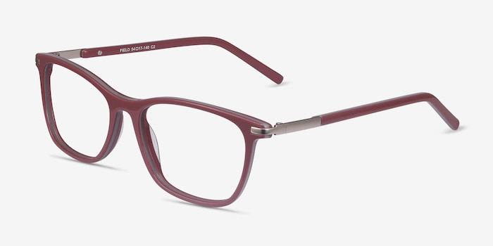 Field Pink Acetate-metal Eyeglass Frames from EyeBuyDirect, Angle View