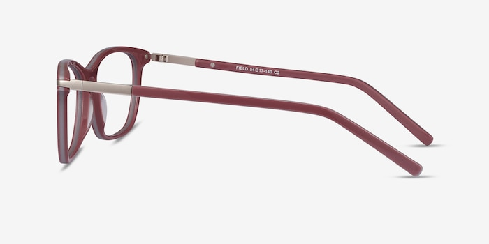 Field Pink Acetate-metal Eyeglass Frames from EyeBuyDirect, Side View