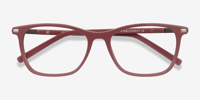 Field Pink Acetate-metal Eyeglass Frames from EyeBuyDirect, Closed View