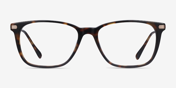 Plaza Tortoise Acetate Eyeglass Frames from EyeBuyDirect, Front View