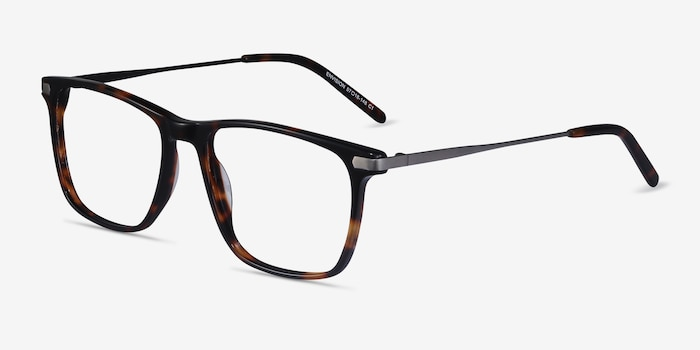 Envision Tortoise Metal Eyeglass Frames from EyeBuyDirect, Angle View