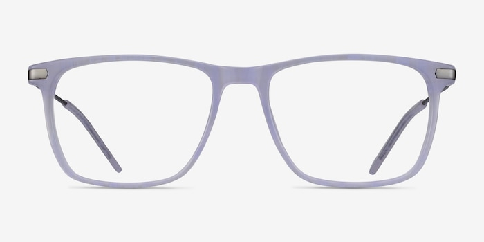 Envision Purple Acetate Eyeglass Frames from EyeBuyDirect, Front View