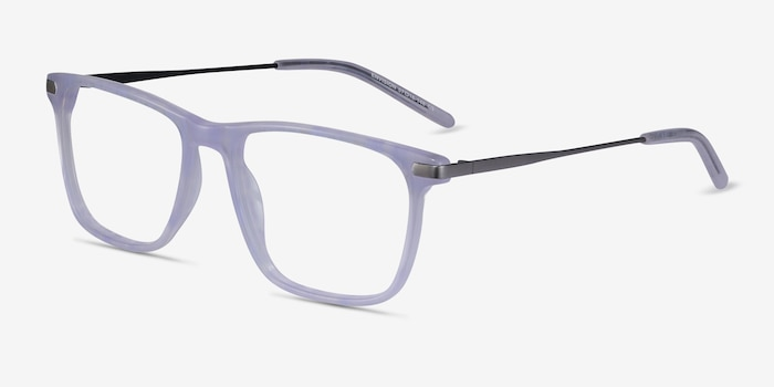 Envision Purple Acetate Eyeglass Frames from EyeBuyDirect, Angle View