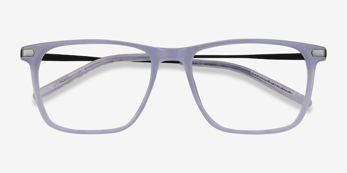 Envision Purple Acetate Eyeglass Frames from EyeBuyDirect, Closed View