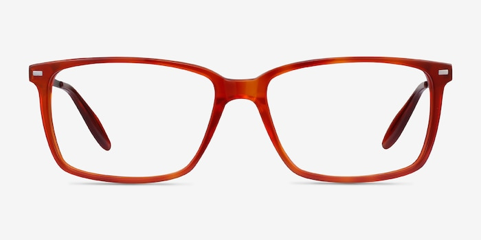 Hayday Blood Orange Acetate Eyeglass Frames from EyeBuyDirect, Front View