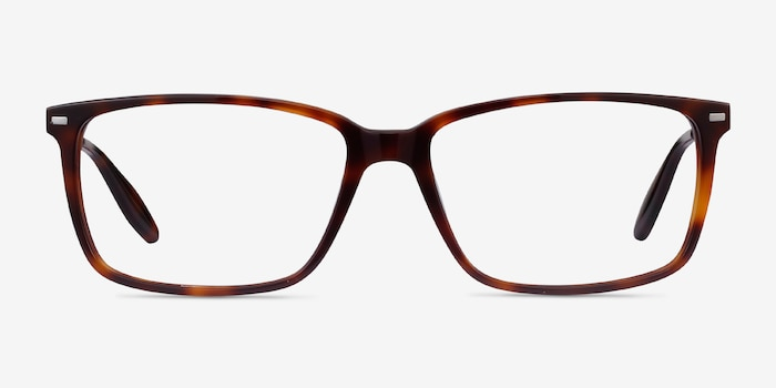 Hayday Tortoise Acetate Eyeglass Frames from EyeBuyDirect, Front View