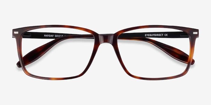 Hayday Tortoise Acetate Eyeglass Frames from EyeBuyDirect, Closed View