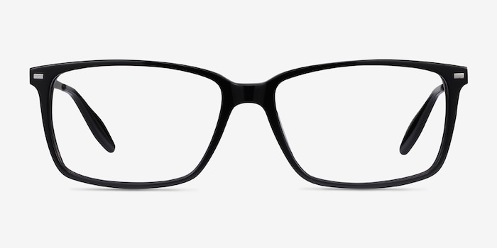 Hayday Black Metal Eyeglass Frames from EyeBuyDirect, Front View