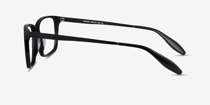 Hayday Black Metal Eyeglass Frames from EyeBuyDirect, Side View