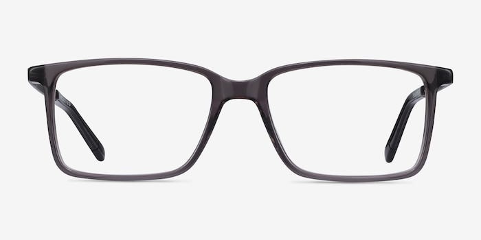 Haptic Gray Acetate Eyeglass Frames from EyeBuyDirect, Front View