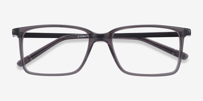 Haptic Gray Acetate Eyeglass Frames from EyeBuyDirect, Closed View