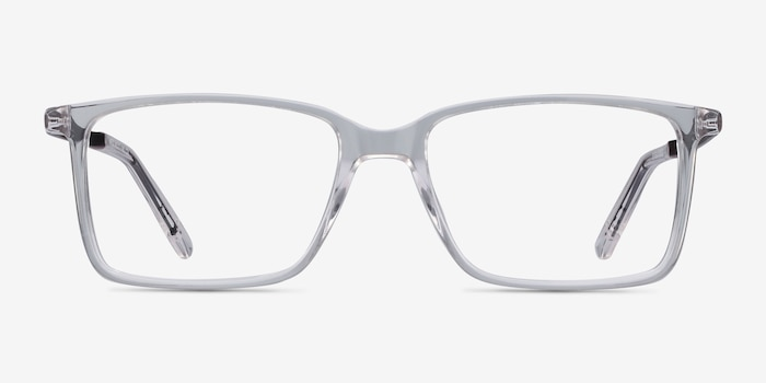 Haptic Clear Metal Eyeglass Frames from EyeBuyDirect, Front View