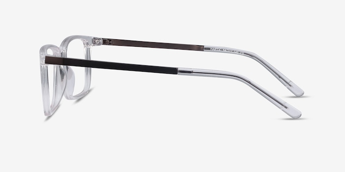 Haptic Clear Acetate-metal Eyeglass Frames from EyeBuyDirect, Side View