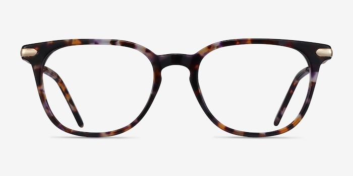 Therefore Floral Acetate Eyeglass Frames from EyeBuyDirect, Front View