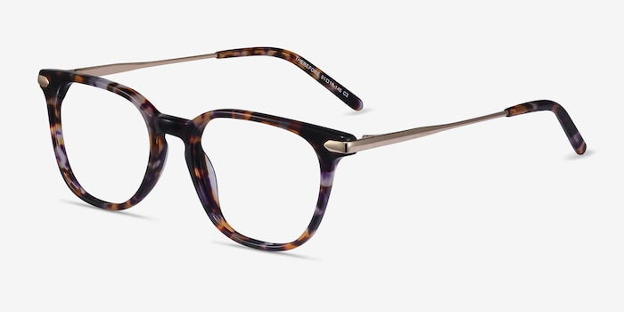 Therefore Floral Acetate Eyeglass Frames from EyeBuyDirect, Angle View