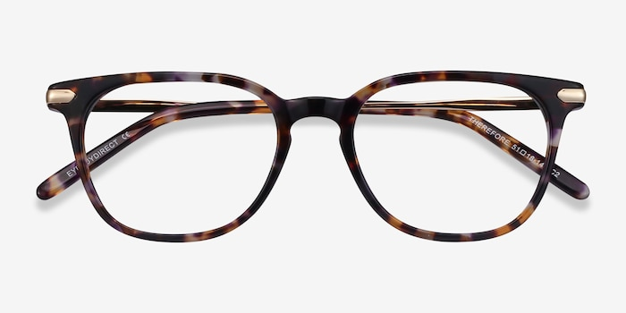 Therefore Floral Acetate Eyeglass Frames from EyeBuyDirect, Closed View