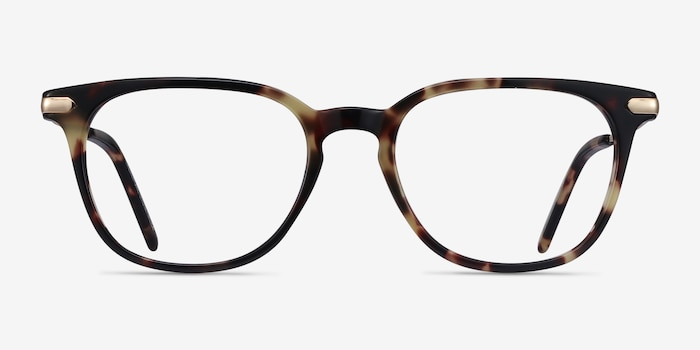 Therefore Tortoise Acetate Eyeglass Frames from EyeBuyDirect, Front View