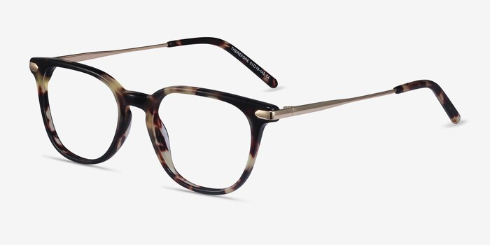 Therefore Tortoise Acetate Eyeglass Frames from EyeBuyDirect, Angle View