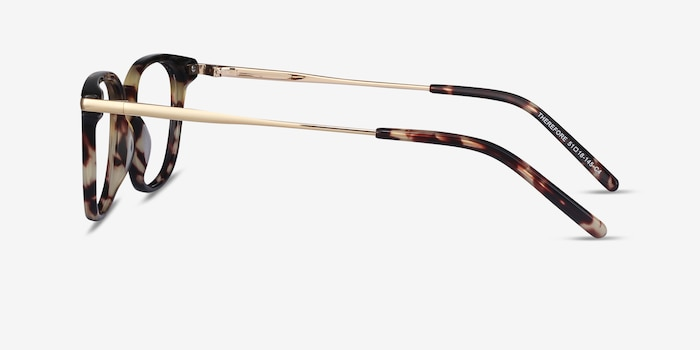 Therefore Tortoise Acetate Eyeglass Frames from EyeBuyDirect, Side View