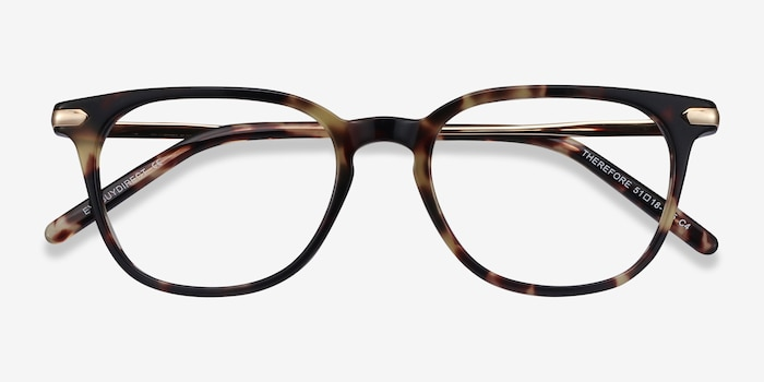 Therefore Tortoise Acetate Eyeglass Frames from EyeBuyDirect, Closed View