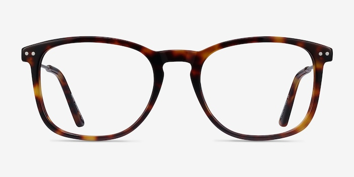 Ratio Tortoise Metal Eyeglass Frames from EyeBuyDirect, Front View