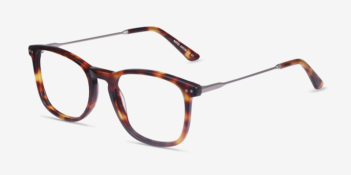 Ratio Tortoise Acetate-metal Eyeglass Frames from EyeBuyDirect, Angle View