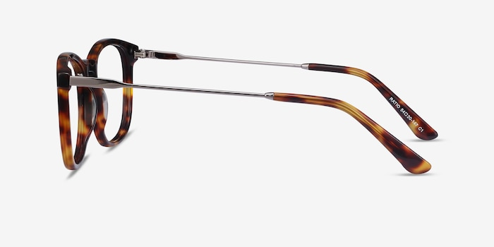 Ratio Tortoise Acetate-metal Eyeglass Frames from EyeBuyDirect, Side View