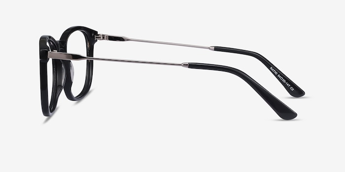 Ratio Black Acetate-metal Eyeglass Frames from EyeBuyDirect, Side View