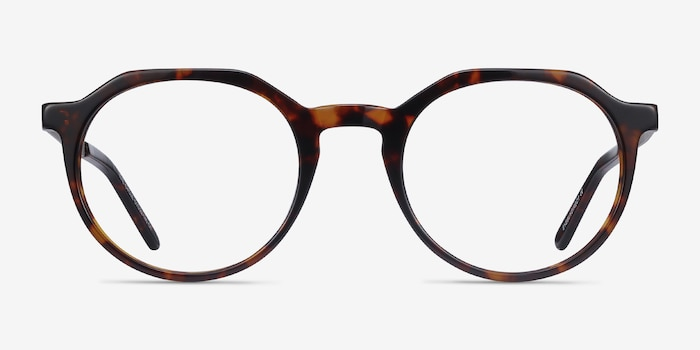 The Cycle Dark Tortoise Metal Eyeglass Frames from EyeBuyDirect, Front View
