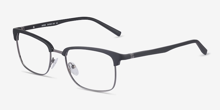 Osten Black Metal Eyeglass Frames from EyeBuyDirect, Angle View