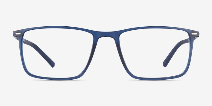 Simon Blue Plastic-metal Eyeglass Frames from EyeBuyDirect, Front View