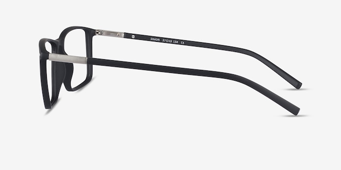 Simon Black Plastic-metal Eyeglass Frames from EyeBuyDirect, Side View
