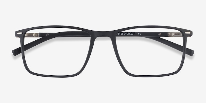 Simon Black Plastic-metal Eyeglass Frames from EyeBuyDirect, Closed View