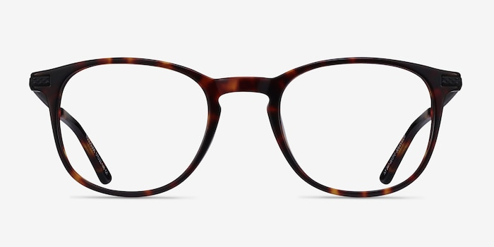 Toulouse Tortoise Acetate Eyeglass Frames from EyeBuyDirect, Front View