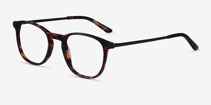 Toulouse Tortoise Acetate Eyeglass Frames from EyeBuyDirect, Angle View