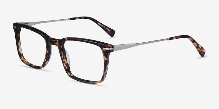 Nox Tortoise Metal Eyeglass Frames from EyeBuyDirect, Angle View