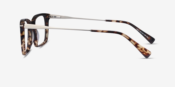 Nox Tortoise Metal Eyeglass Frames from EyeBuyDirect, Side View