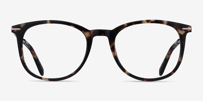 Ninah Tortoise Metal Eyeglass Frames from EyeBuyDirect, Front View