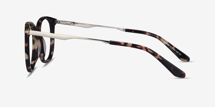 Ninah Tortoise Metal Eyeglass Frames from EyeBuyDirect, Side View