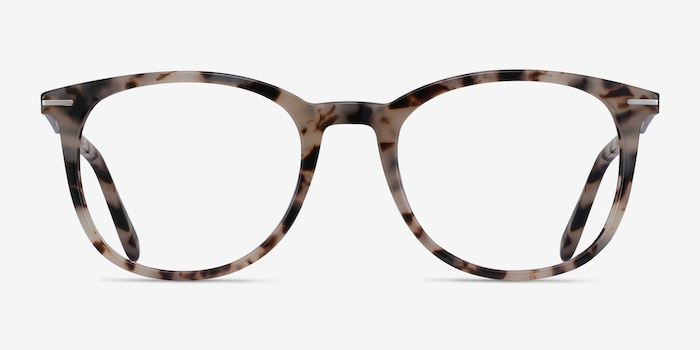 Ninah Ivory Tortoise Acetate Eyeglass Frames from EyeBuyDirect, Front View