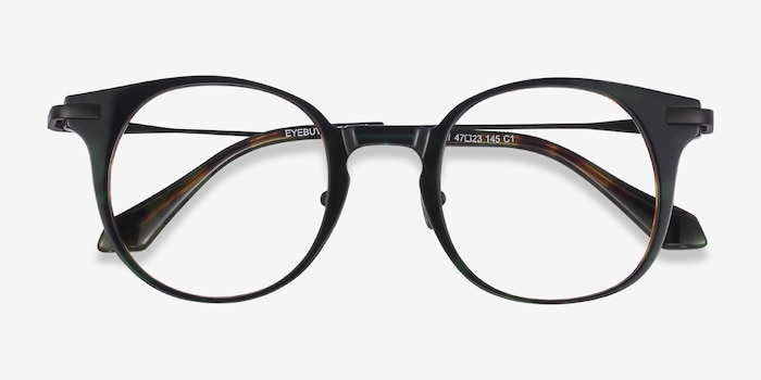 Lazzi Green Tortoise Acetate Eyeglass Frames from EyeBuyDirect, Closed View