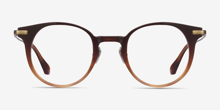 Lazzi Brown Acetate Eyeglass Frames from EyeBuyDirect, Front View