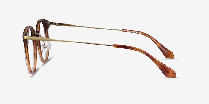 Lazzi Brown Acetate Eyeglass Frames from EyeBuyDirect, Side View