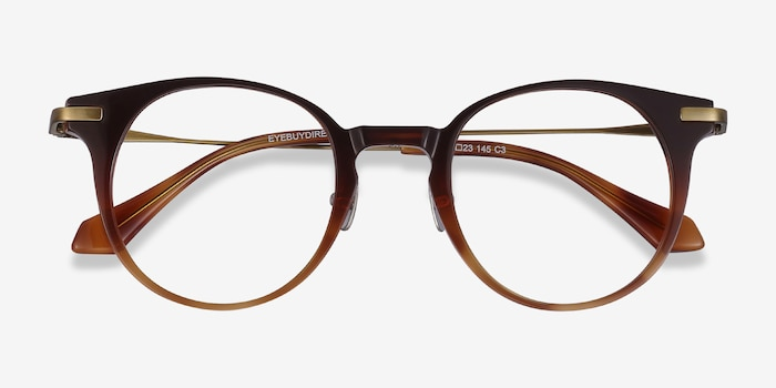 Lazzi Brown Acetate Eyeglass Frames from EyeBuyDirect, Closed View