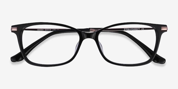 Vanda Black Acetate Eyeglass Frames from EyeBuyDirect, Closed View