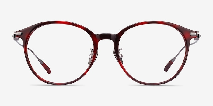 Colette Red Tortoise Acetate Eyeglass Frames from EyeBuyDirect, Front View
