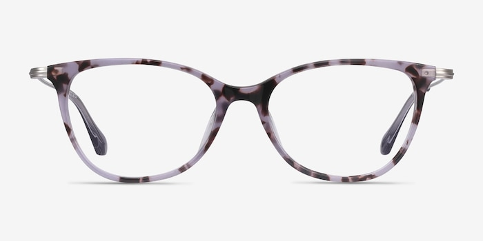 Idylle Purple Tortoise Acetate Eyeglass Frames from EyeBuyDirect, Front View